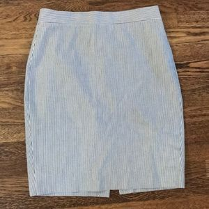 Jcrew seersucker no2 pencil skirt sz 4p